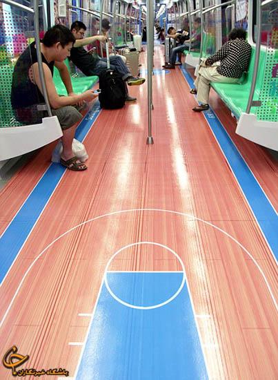 تصاویر / زمین بازی در مترو