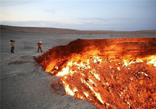 ورودی دروازه جهنم در ترکمنستان! (+عکس)