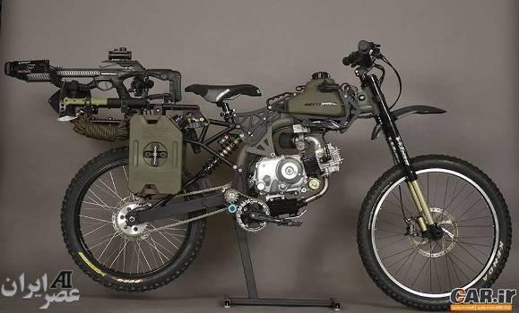 موتورسیکلت مجهز به سلاح خودکار (عکس)