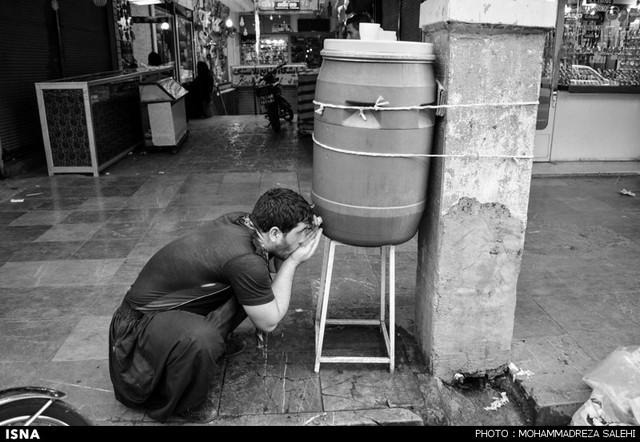 عطش روزهای داغ تابستان در اهواز (عکس)