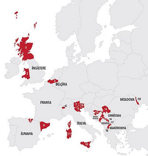 نقشه جدایی طلبان اروپا (+عکس)