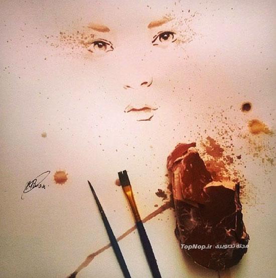 نقاشی با بستنی آب شده! (عکس)