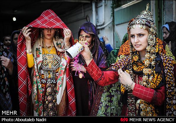 مراسم سنتی عروسی ترکمن (عکس)