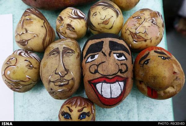 اوباما و پوتین روی سیب زمینی! (عکس)