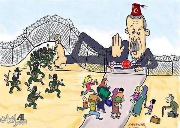 مقابله ترکیه با داعش (کارتون)