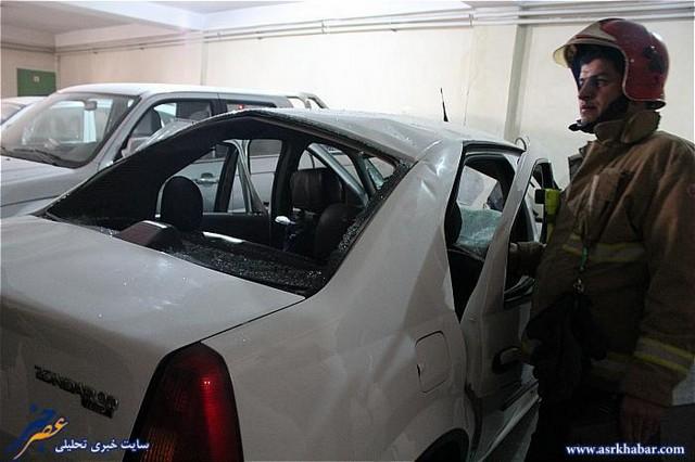انفجار عجیب خودروی تندر 90 (عکس)