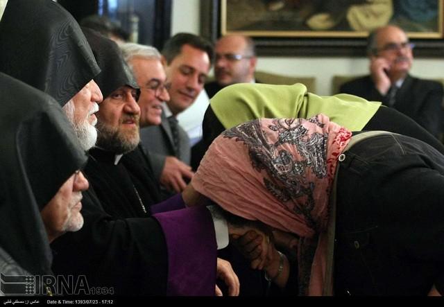 پیشوای دینی ارامنه جهان در ایران (عکس)