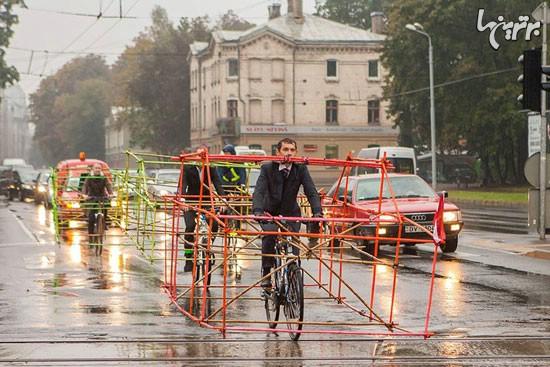 ایده جالب در روز جهانی بدون ماشین (+عکس)