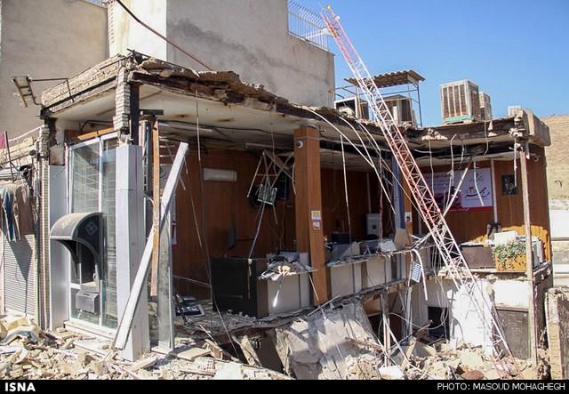 ریزش ساختمان بانک - سمنان (عکس)