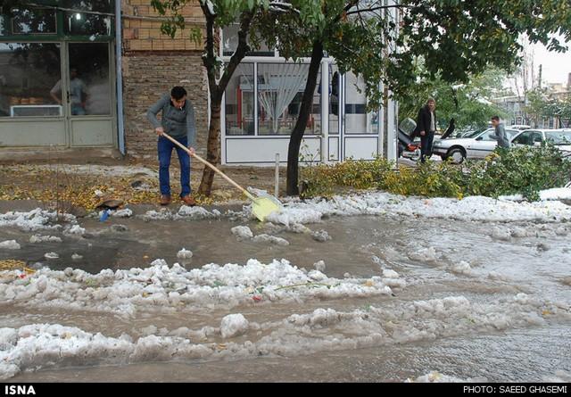 بارش برف در آذربایجان شرقی (عکس)