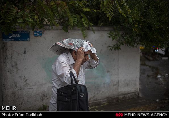 تلگرام خواننده باران هوای بارانی تهران (عکس)