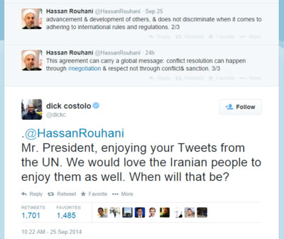 تماس تلفنی مدیر توییتر با وزیر خارجه ایران به منظور رفع فیلتر