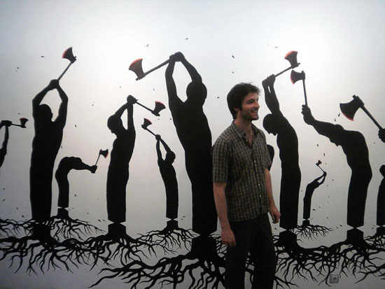 نقاش خیابانی که جهانی شد (عکس)