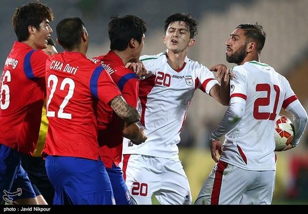 درگیری بازیکنان ایران و کره جنوبی(فیلم/عکس)