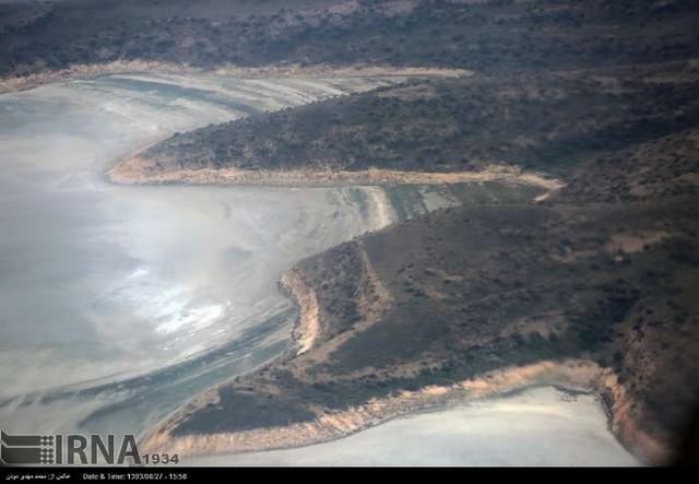 بر فراز دریاچه ارومیه (عکس)