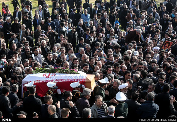 مراسم تشییع پیکر مرحوم غلامحسین مظلومی