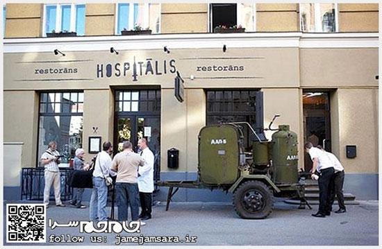 اینجا رستوران است یا بیمارستان؟! (عکس)