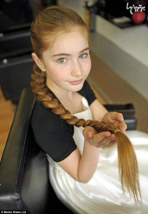 دختر 12 ساله، راپونزل واقعی! (+عکس)