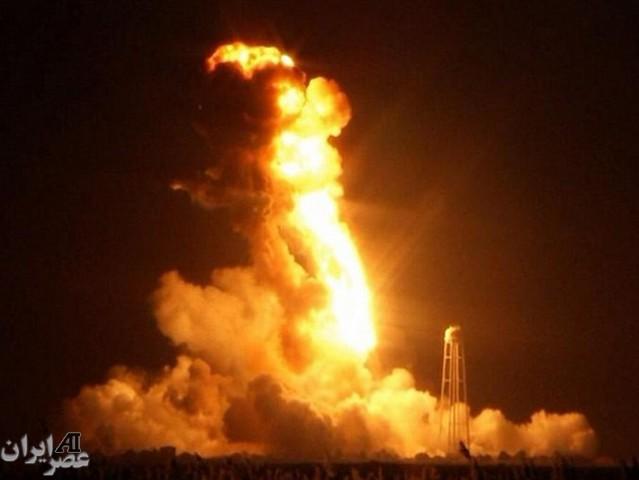 انفجار صاروخ أمیرکی بعد ثوان من إطلاقه للفضاء
