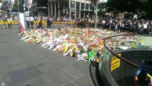 گلباران محل کشته شده ها توسط مردم در استرالیا (عکس)