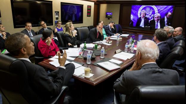 تماس جان کری با اوباما (+عکس)