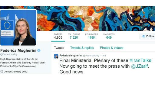 توافق به دست آمد / ظریف در توئیتر: راه حل ها پیدا شدند / موگرینی: خبر خوش