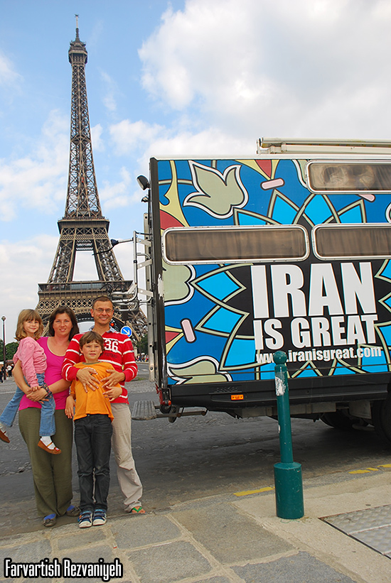 کریستین ایوان خانه متحرک Iran is great