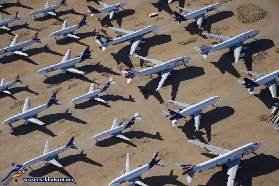 تصاویر گورستان هواپیماها در آمریکا