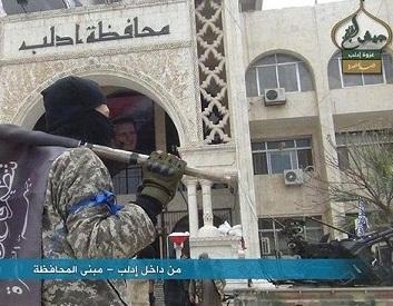 شهر ادلب سوریه سقوط کرد(+عکس)