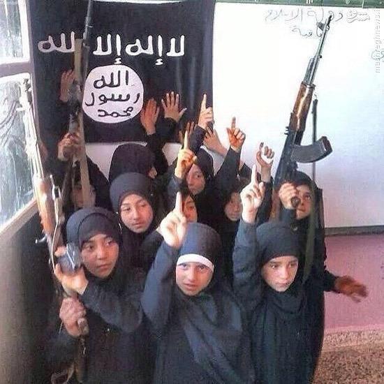 مدرسه دخترانه داعش (عکس)