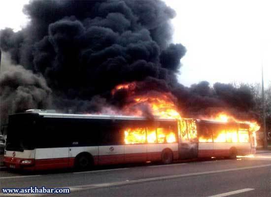آتشسوزی 3 اتوبوس شهری به فاصله چند روز در پراگ! (+عکس)