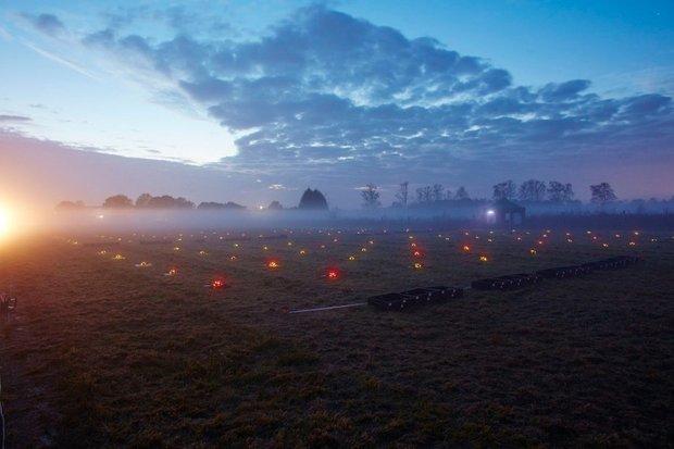 نور افشانی خارق العاده توسط هواپیماهای بدون خلبان