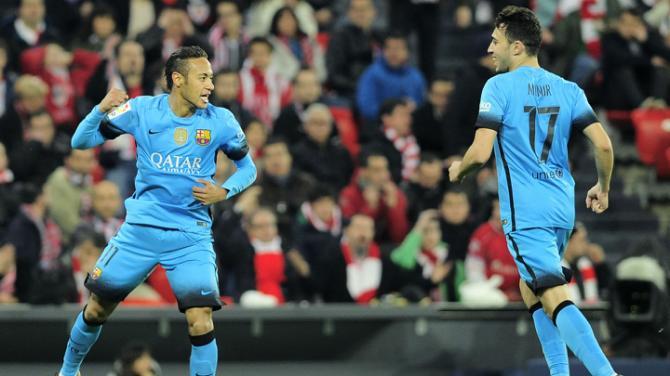 بیلبائو 1 - 2 بارسلونا / یک قدم تا صعود بدون مسی بدون سوارز(+عکس)