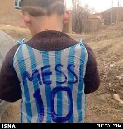 لیونل مسی به دنبال کودک عراقی (+عکس)