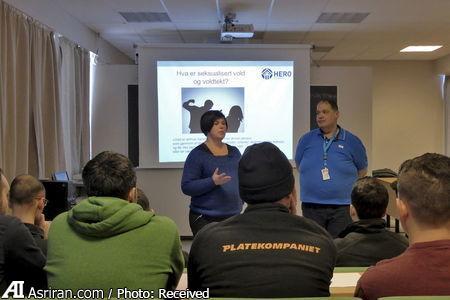 کلاس آموزش مسایل جنسی به پناهجویان سوری در نروژ (+عکس)