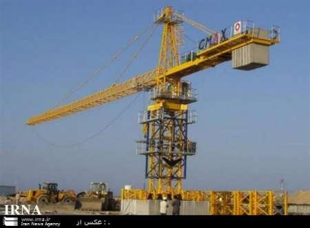 سقوط جرثقیل برج ساز در تهران (+عکس)