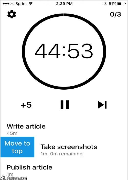 زمانبدنی انجام وظایف با اپلیکیشن Sloth