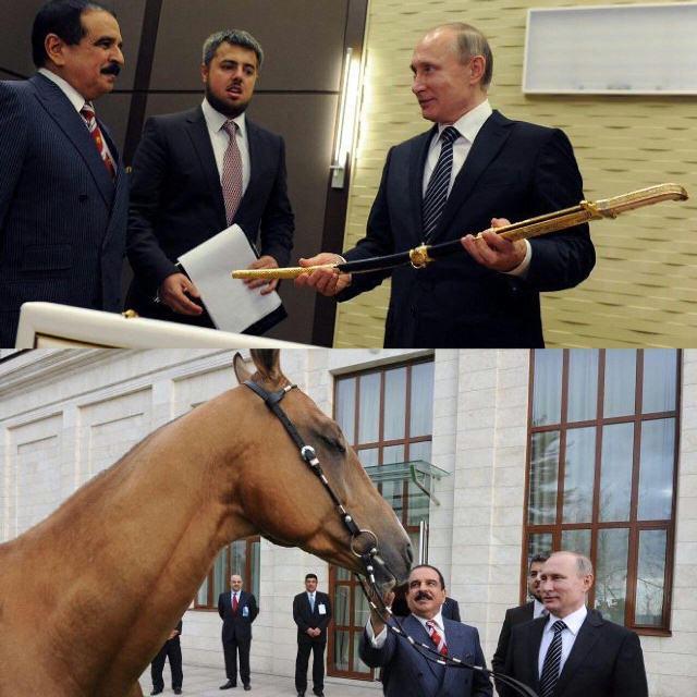 هدیه پوتین به پادشاه بحرین (+عکس)