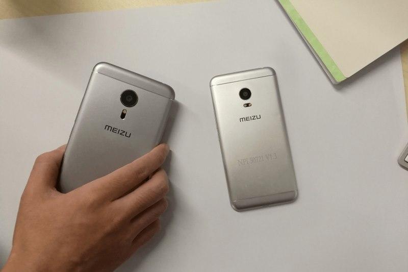 درز تصویر Meizu Pro 5 mini در کنار Meizu PRO 5