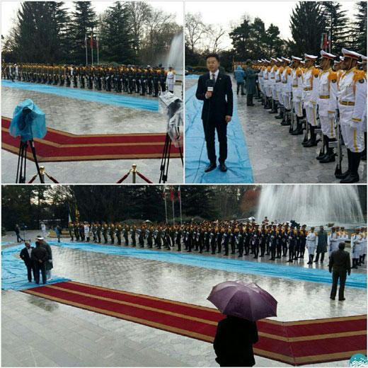 دردسرهای استقبال از رئیس جمهور چین (+ عکس)