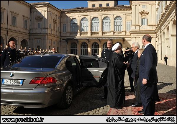 خودروی روحانی در ایتالیا (عکس)
