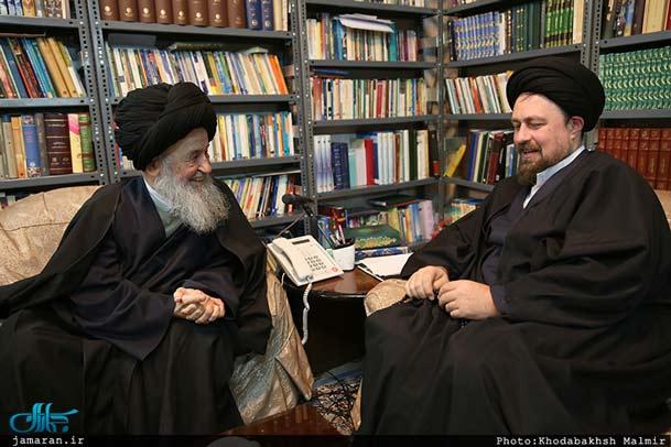 حضور یک مرجع تقلید دیگر در خانه سید حسن خمینی/ علوی گرگانی: به شما بسیار علاقهمندم