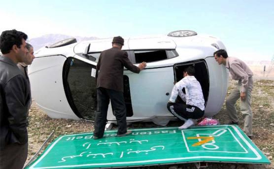 واژگونی  بیشترین عامل بروز تصادفات رانندگی در نوروز 94