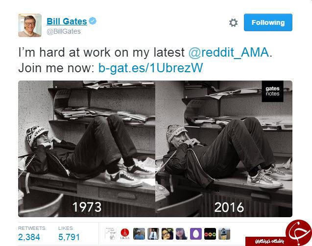 عکسی از بیل گیتس که پس از ۴۳ سال تکرار شد