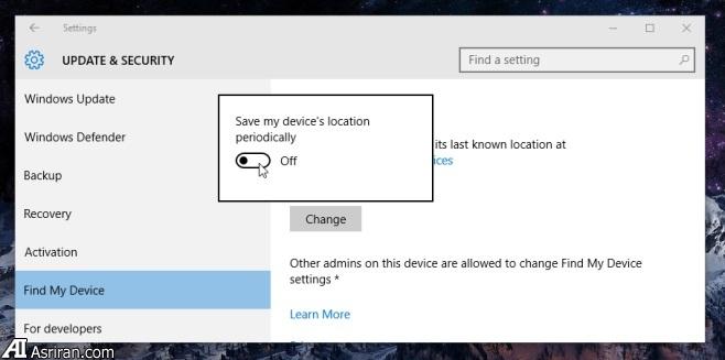 چگونگی ردیابی مکان لپ تاپ مجهز به ویندوز 10