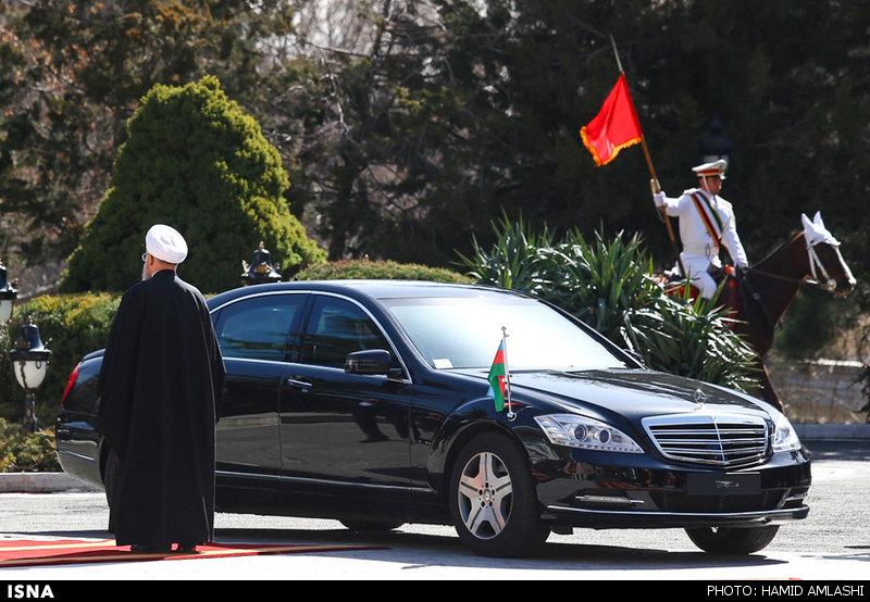 خودروی رئیس جمهور آذربایجان در تهران (عکس)