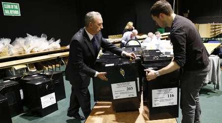 صندوق رای فولادی در ایرلند را با اره گشودند
