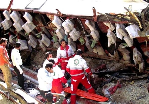 مرگ 11 مسافر پرواز مشهد - ساری در واژگونی اتوبوس