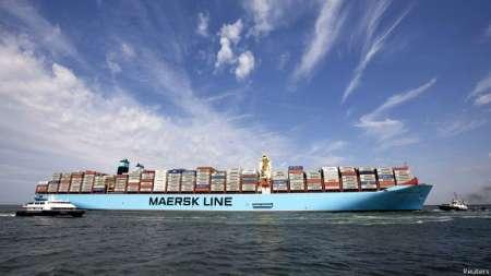 کشتی مرسک لحظاتی پیش آزاد شد