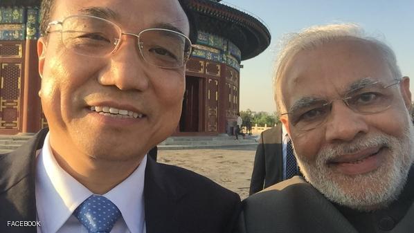 سلفی سران چین و هند (عکس)